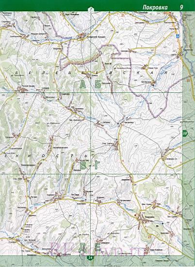 Карта Абдулинского района