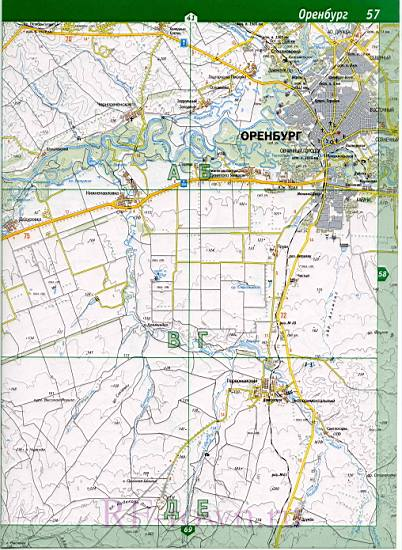 Карта Оренбургского Района Подробная