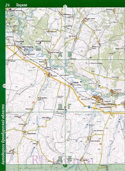Карта Тоцкого Района Оренбургской Области Бланковка